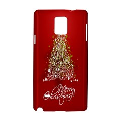 Tree Merry Christmas Red Star Samsung Galaxy Note 4 Hardshell Case by Alisyart