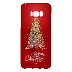 Tree Merry Christmas Red Star Samsung Galaxy S8 Plus Hardshell Case  by Alisyart