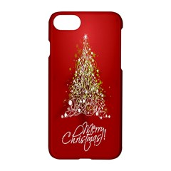 Tree Merry Christmas Red Star Apple Iphone 8 Hardshell Case by Alisyart