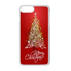 Tree Merry Christmas Red Star Apple Iphone 8 Plus Seamless Case (white) by Alisyart