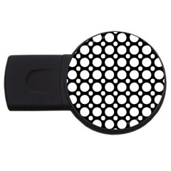 Tileable Circle Pattern Polka Dots Usb Flash Drive Round (4 Gb) by Alisyart