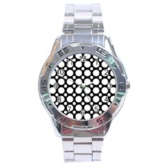 Tileable Circle Pattern Polka Dots Stainless Steel Analogue Watch by Alisyart