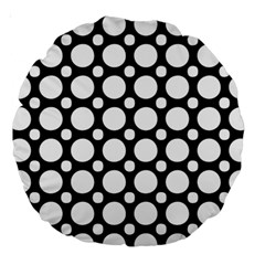 Tileable Circle Pattern Polka Dots Large 18  Premium Round Cushions by Alisyart