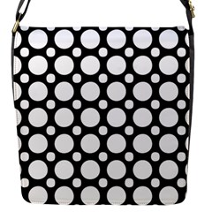 Tileable Circle Pattern Polka Dots Flap Messenger Bag (s) by Alisyart