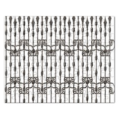 Iron Fence Grey Strong Rectangular Jigsaw Puzzl by Alisyart