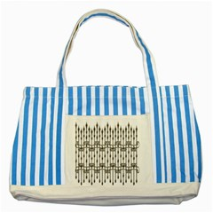 Iron Fence Grey Strong Striped Blue Tote Bag by Alisyart