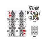 Iron Fence Grey Strong Playing Cards 54 (Mini)  Front - Heart6