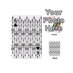 Iron Fence Grey Strong Playing Cards 54 (Mini)  Front - Spade6