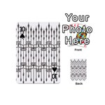 Iron Fence Grey Strong Playing Cards 54 (Mini)  Front - Spade10
