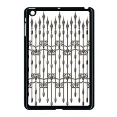 Iron Fence Grey Strong Apple Ipad Mini Case (black) by Alisyart