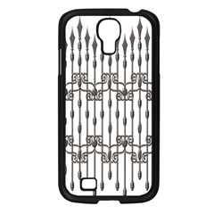 Iron Fence Grey Strong Samsung Galaxy S4 I9500/ I9505 Case (black) by Alisyart
