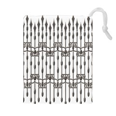 Iron Fence Grey Strong Drawstring Pouches (extra Large) by Alisyart
