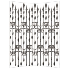Iron Fence Grey Strong Back Support Cushion by Alisyart