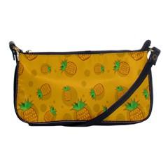 Fruit Pineapple Yellow Green Shoulder Clutch Bags by Alisyart