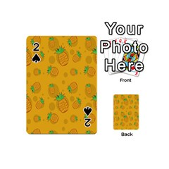 Fruit Pineapple Yellow Green Playing Cards 54 (mini)  by Alisyart