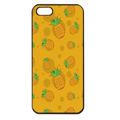 Fruit Pineapple Yellow Green Apple Iphone 5 Seamless Case (black) by Alisyart