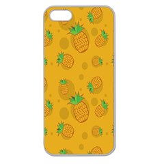 Fruit Pineapple Yellow Green Apple Seamless Iphone 5 Case (clear) by Alisyart