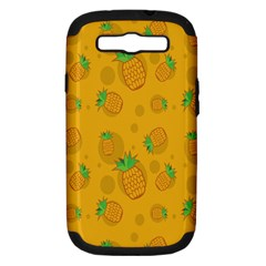 Fruit Pineapple Yellow Green Samsung Galaxy S Iii Hardshell Case (pc+silicone) by Alisyart