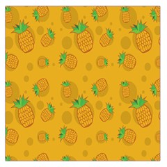 Fruit Pineapple Yellow Green Large Satin Scarf (square) by Alisyart
