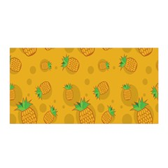 Fruit Pineapple Yellow Green Satin Wrap by Alisyart