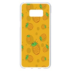 Fruit Pineapple Yellow Green Samsung Galaxy S8 Plus White Seamless Case