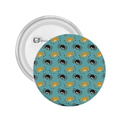 Spider Grey Orange Animals Cute Cartoons 2 25  Buttons by Alisyart