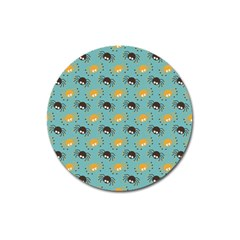 Spider Grey Orange Animals Cute Cartoons Magnet 3  (round) by Alisyart