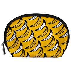 Fruit Bananas Yellow Orange White Accessory Pouches (large)  by Alisyart