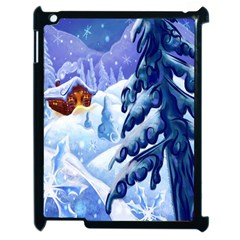Christmas Wooden Snow Apple Ipad 2 Case (black) by Alisyart