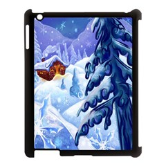Christmas Wooden Snow Apple Ipad 3/4 Case (black) by Alisyart
