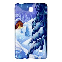 Christmas Wooden Snow Samsung Galaxy Tab 4 (8 ) Hardshell Case  by Alisyart