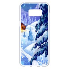 Christmas Wooden Snow Samsung Galaxy S8 Plus White Seamless Case by Alisyart