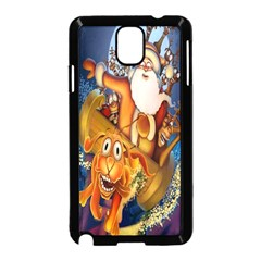 Deer Santa Claus Flying Trees Moon Night Christmas Samsung Galaxy Note 3 Neo Hardshell Case (black) by Alisyart
