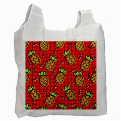 Fruit Pineapple Red Yellow Green Recycle Bag (two Side)  by Alisyart