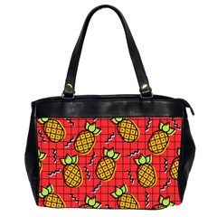 Fruit Pineapple Red Yellow Green Office Handbags (2 Sides)  by Alisyart