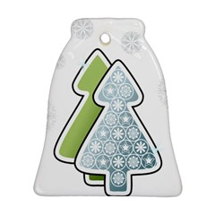 Tree Spruce Xmasts Cool Snow Bell Ornament (two Sides) by Alisyart