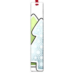 Tree Spruce Xmasts Cool Snow Large Book Marks by Alisyart