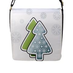 Tree Spruce Xmasts Cool Snow Flap Messenger Bag (l)  by Alisyart