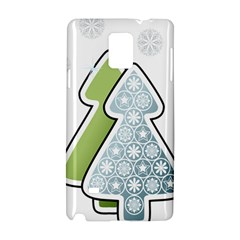 Tree Spruce Xmasts Cool Snow Samsung Galaxy Note 4 Hardshell Case