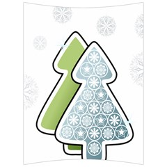 Tree Spruce Xmasts Cool Snow Back Support Cushion by Alisyart