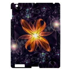 Beautiful Orange Star Lily Fractal Flower At Night Apple Ipad 3/4 Hardshell Case by jayaprime