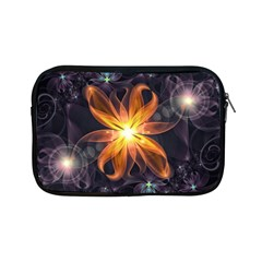 Beautiful Orange Star Lily Fractal Flower At Night Apple Ipad Mini Zipper Cases by jayaprime