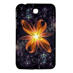 Beautiful Orange Star Lily Fractal Flower At Night Samsung Galaxy Tab 3 (7 ) P3200 Hardshell Case  by jayaprime