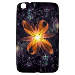 Beautiful Orange Star Lily Fractal Flower At Night Samsung Galaxy Tab 3 (8 ) T3100 Hardshell Case  by jayaprime