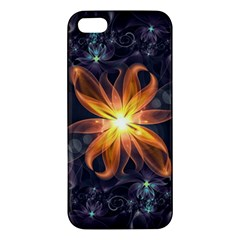Beautiful Orange Star Lily Fractal Flower At Night Iphone 5s/ Se Premium Hardshell Case by jayaprime