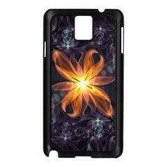 Beautiful Orange Star Lily Fractal Flower At Night Samsung Galaxy Note 3 N9005 Case (black) by beautifulfractals