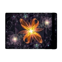 Beautiful Orange Star Lily Fractal Flower At Night Ipad Mini 2 Flip Cases by jayaprime