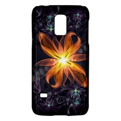 Beautiful Orange Star Lily Fractal Flower At Night Galaxy S5 Mini by beautifulfractals