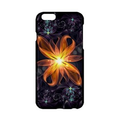Beautiful Orange Star Lily Fractal Flower At Night Apple Iphone 6/6s Hardshell Case by jayaprime