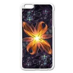 Beautiful Orange Star Lily Fractal Flower At Night Apple Iphone 6 Plus/6s Plus Enamel White Case by jayaprime